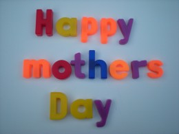 Happy Mothers Day in alphabet letters