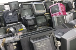 Pile of TV's