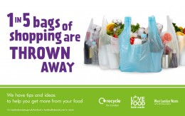 1 in 5 bags of shopping are thrown away