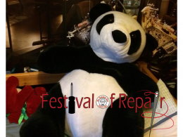 panda at the festival of repair