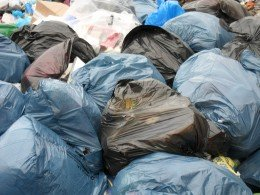 Pile of rubbish waiting to be treated